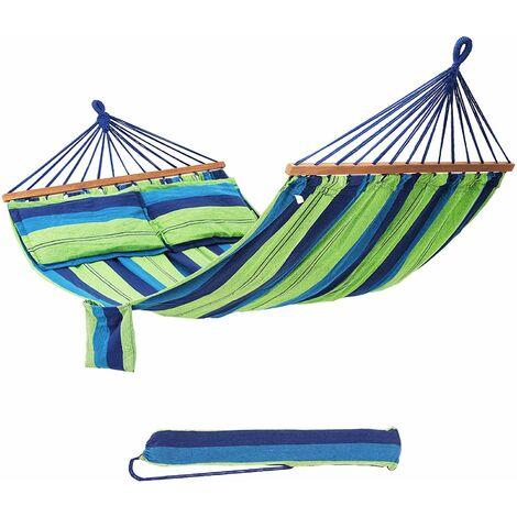 Hammock Portable 70% Cotton 2 Person 210 x 150cm max. load 300kg GDC22L - Colourful stripes