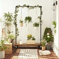 Heavy-Duty Clothes Rack, Top Rail Holds up to 90 kg, Industrial Pipe Rolling Garment Rack with Shelf, Lockable Wheels, for Laundry Room, Retail Store, Black HSR65BX - Black