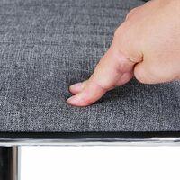 2 x Breakfast Bar Kitchen Swivel Stools with Linen Fabric Seat Smoke Grey LJB15GUK - Smoke Grey
