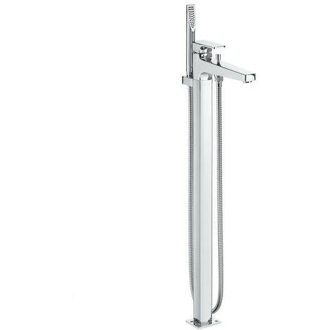 Grifo monomando de pie para baño-ducha - ROCA