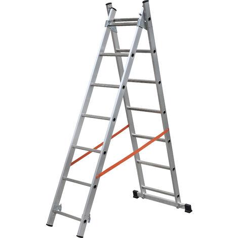 GIERRE AL305 - Escalera 2 tramos combinada de aluminio Modula 2x7