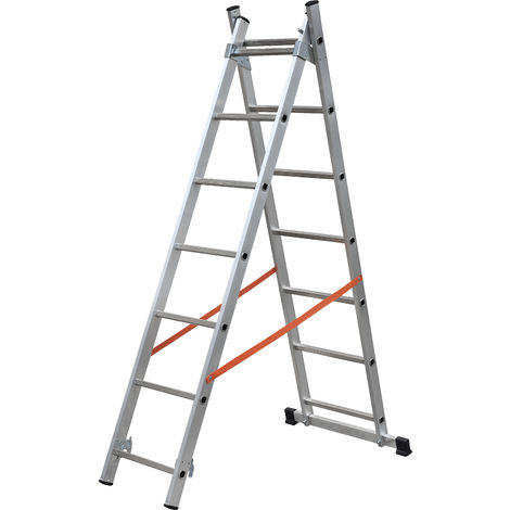 GIERRE AL320 - Escalera 2 tramos combinada de aluminio Modula 2x10