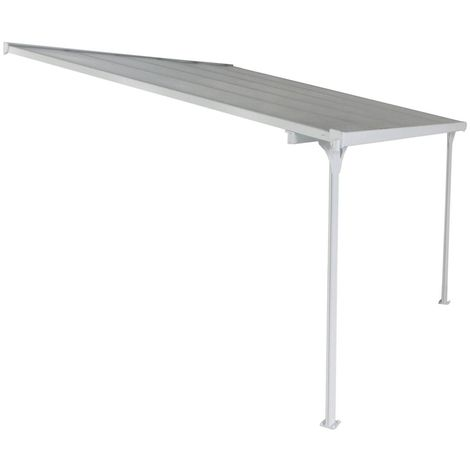 """Pergola blanche aluminium """"Lucia"""" - 10m² - Blanc"""