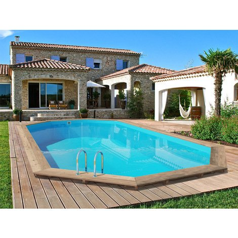 "Piscine bois "" Palma "" - 7.57 x 4.07 x 1.31 m"