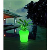"""Pot de fleurs lumineux LED """"NIAS"""" - Blanc"""
