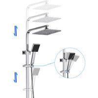 Duschsystem mit Thermostat, BONADE Regendusche Duscharmatur mit Höhenverstellbare Duschstange und Handbrause, Edelstahl Chrom Dusche, Duschset für Badzimmer