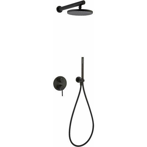 Kit de ducha completo en negro mate Paini Cox 78YO433TCD   Negro mate