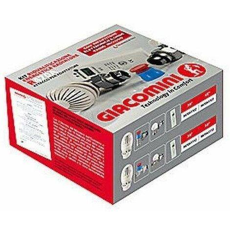 """GIACOMINI-Cabeza termostática + válvula E KIT DE RADIADOR R470FX   3/8"""" Rectas"""