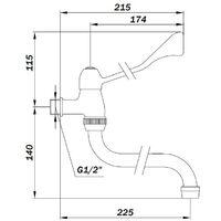 Grifo para lavabo de pared con caño giratorio y palanca clínica Idral 02010/DC | Cromo