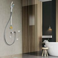 Barra de ducha deslizante magnética 70 cm alto Magnetic Shower MS001 | Blanco
