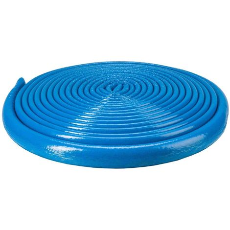 10m Long Blue 22mm Extra Strong Pipe Foam Insulation Lagging Wrap 6mm Thick