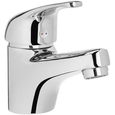 Bathroom Basin Mixer Tap Chrome Plated Brass Sink Ceramic Mixer