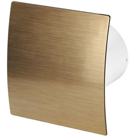 100mm Timer Extractor Fan Gold ABS Front Panel ESCUDO Wall Ceiling Ventilation