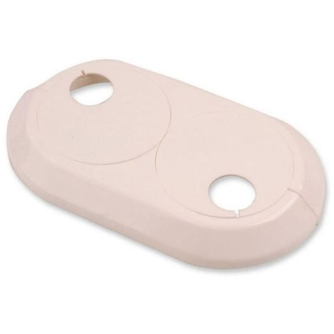Double 28mm PVC White Radiator Plastic Water Pipe Cover Collar Rose