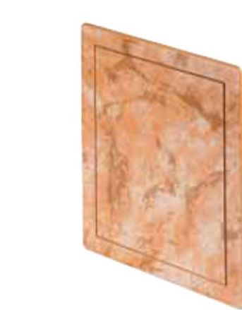 200x200mm Durable ABS Plastic Access Inspection Door Panel Marble Color