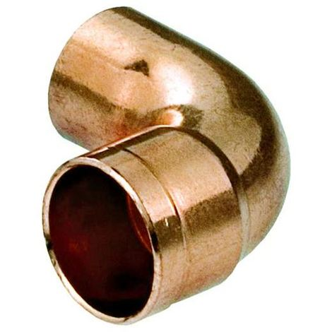 Water Pipe Fitting Elbow Copper Connector Solder Male x Female 18mm Diameter