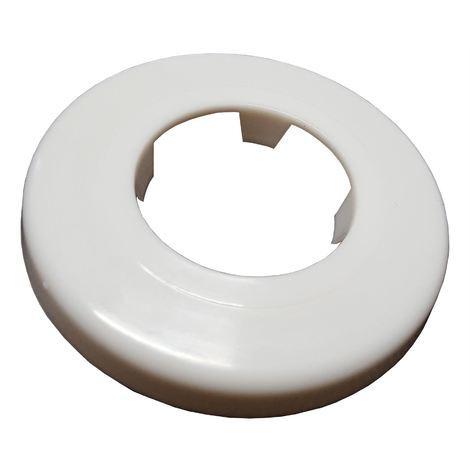 White Rosette Collar Rose Cover for Pipe Holes Gaps Hiding 40mm Diameter