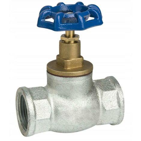 "3/4"" Inch BSP Inline Straight Run Cast Iron Screw Valve Water Flow Regulator"