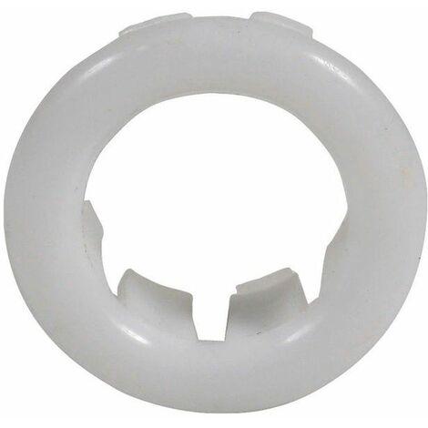 Small White Rosette Rose Collar for Bathroom Sink Basin Overflow 25mm Diameter