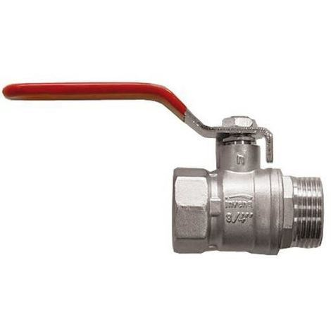 """Standard Flow Rate Water Ball Valve with Steel Handle DN20 3/4"""" BSP Female x Male Thread"""