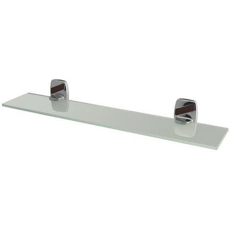 Modern Chrome Plated Zamak Wall Mounted Mirror Ledge Tempered Glass Shelf