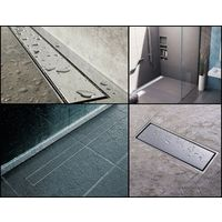 500mm Long Wetroom Walk-in Bathroom Floor Linear Shower Channel Drain