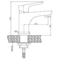 Graphite/Chrome Bathroom Sink Elegant Standing Mixer Tap Single Lever Tap