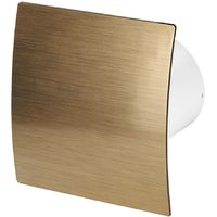 100mm Standard Extractor Fan Gold ABS Front Panel ESCUDO Wall Ceiling Ventilation