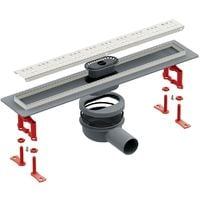 800mm Walk-In Bathroom Floor Linear Shower Perforated Steel Channel Drain