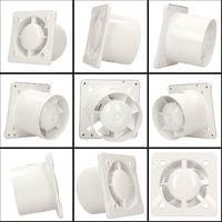 100mm Humidity Sensor Extractor Fan White ABS Front Panel TRAX Wall Ceiling Ventilation