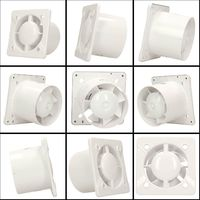100mm Standard LINEA Extractor Fan Satin ABS Front Panel Wall Ceiling Ventilation