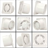 125mm Humidity Sensor Extractor Fan White ABS Front Panel TRAX Wall Ceiling Ventilation