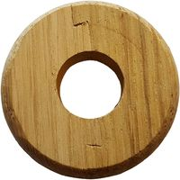 Small Nice Looking Wooden Rose Timbered Collar Pipe Hole Cover 15mm Diameter