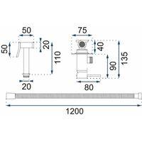 Bidet Tap Ceramic Mixer Expendable Handle 1.2m Hose Black Finished Brass