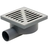 Side Outlet Stainless Steel Grid 150x150mm Floor Ground Waste Drain Gully Trap