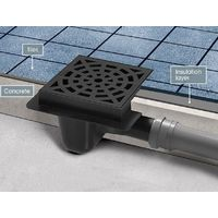 Sewerage Plastic Floor Ground Drain with White Round Pattern Grid 50mm Pipe Diameter