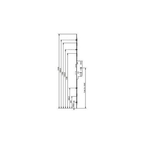 Prolongateur FERCO pour crémone Fercomatic/Europa - G-19125-00-0-1
