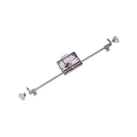 Espagnolette D203 DEVISMES - Acier brut - Axe 25mm - Tringle 1.6m - 8-7 - Gauche - 12383003G