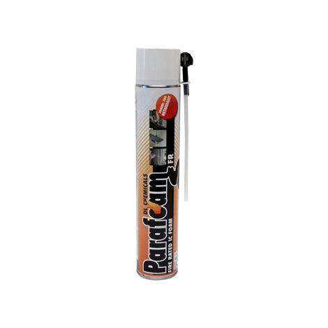 Mousse polyuréthane Parafoam FR DL CHEMICALS - Tête en bas - Coupe feu type FR - Cartouche de 750 ml - Lot de 12 - 0900018N000049