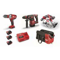 Lot 18V FLEX - Perceuse-visseuse + Perforateur + scie circulaire - 3 batteries + chargeur + accessoires