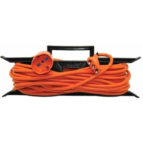 Rallonge et prise V-TAC allemand schuko 16A standard italien couleur orange 15 mètres IP20 - sku 8834