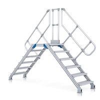 13 Stufen 300233 Stufenbreite 800 Mm Günzburger Aluminium-treppe 60°