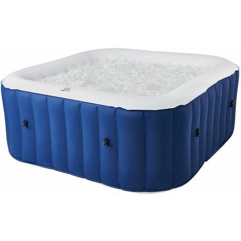 MSPA - Spa gonflable carré 158cm LITE - 4 places - Bleu