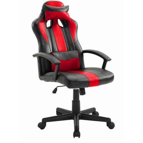 Fauteuil de bureau gamer noir et rouge CRASH - Noir