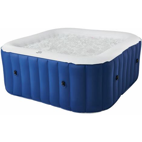 MSPA - Spa gonflable carré 185cm LITE - 6 places - Bleu