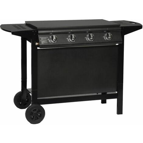 Barbecue au gaz REDFERN - 4 brûleurs 14kW - Noir