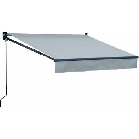 Store banne SAULE 2,5 × 2m - Toile grise et structure grise - Gris