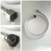 Kit flexible 1,50m et détendeur Propane - Blanc