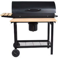 Barbecue Mobile 55x35cm Bbq Avec Roues Grill Plan De