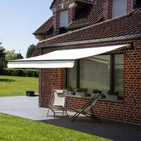 Store banne SAULE 2,5 × 2m - Toile beige et structure grise - Beige
